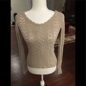 FREE PEOPLE Knit beige pullover